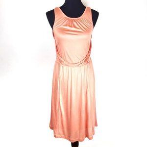 ANN TAYLOR Peach Sleeveless Cocktail Dress NWT